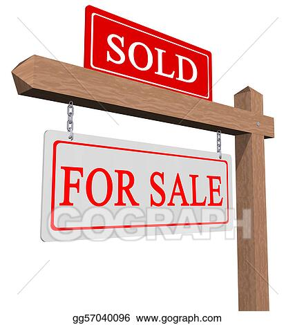 stock illustration for sale and sold sign clipart drawing rh gograph com sold sign clipart free House Sold Sign