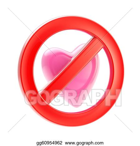 Clipart Forbidden Not Allowed Love Sign Stock Illustration