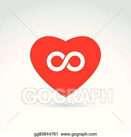 Vector Illustration Forever Love Concept With Heart And Infinity