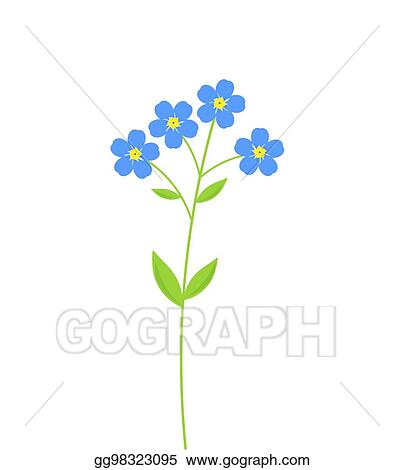 vector illustration forget me not flowers stock clip art rh gograph com Forget Me Not Printables forget me not clip art free