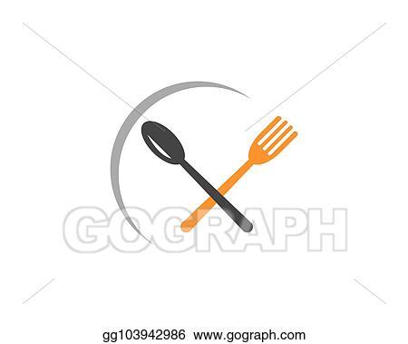clip art vector fork and spoon icon vector stock eps gg103942986 gograph gograph