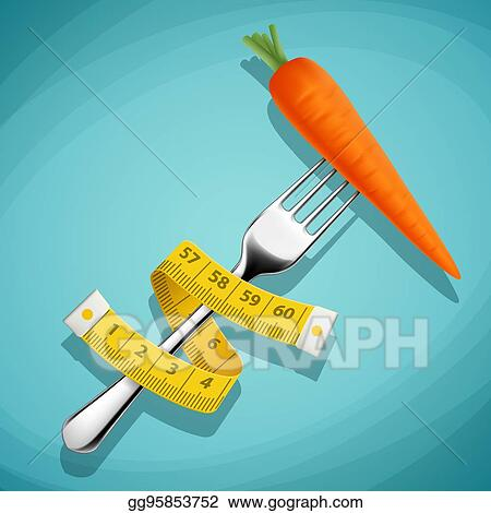 Brilliant Vector Art Fork With A Carrot And A Measuring Tape Download Free Architecture Designs Scobabritishbridgeorg