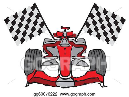 vector art formula 1 racing car vector clipart drawing gg60076222
