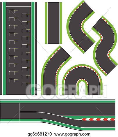 vector art formula race track line set eps clipart gg65681270