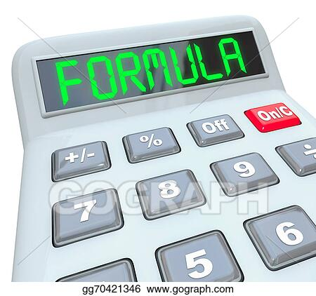 Stock Illustrations - Formula word calculator math problem figure ...