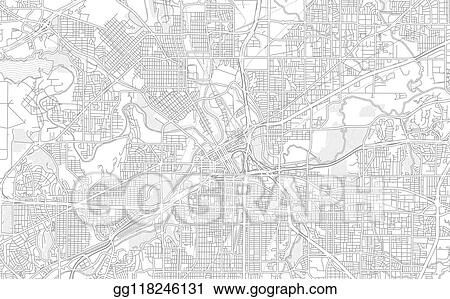 Vector Clipart - Fort worth, texas, usa, bright outlined ...