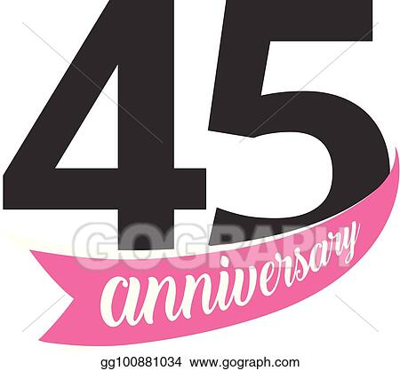 Clip art vector forty fifth anniversary vector logo number 45 forty fifth anniversary vector logo number 45 illustration for greeting card invitation poster marriage commemoration certificate stopboris Image collections