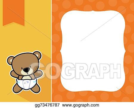 Vector Illustration - Frame baby teddy bear. Stock Clip Art ...
