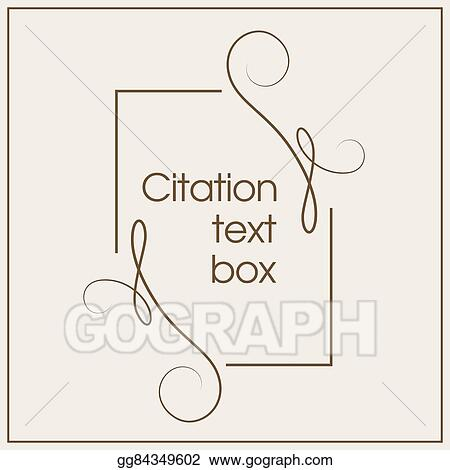 Vector Stock - Frame for decoration quote and other information ...
