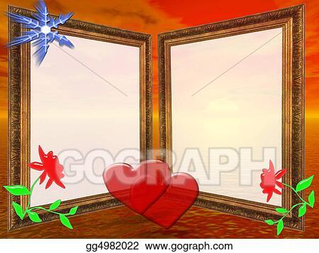 Stock Illustration - Frame for wedding, anniversary or valentine\'s ...