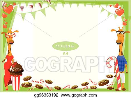 90d450782e66 Clip Art Vector - Frame. standard size in inches. a format. Stock ...