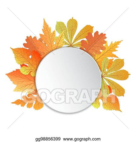 Vector Art Frame With Leaves Template For Autumn Events
