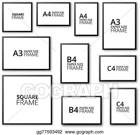 Vector Illustration Frames Set Stock Clip Art Gg77593492 Gograph