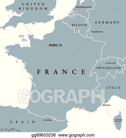Vector Illustration - France political map. Stock Clip Art ... on alsace france, detailed map france, mountains in france, world map france, toulon france, beaune france, rivers in france, etretat france, tours france, orleans france, versailles france, avignon france, countries in france, cities in france, dordogne france, le mans france, biarritz france, how big is france, le havre france, languedoc france,