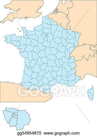 Districts Of France Map.Clip Art Vector France With Administrative Districts And