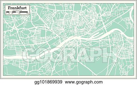 Vector Art Frankfurt Germany City Map In Retro Style Eps Clipart