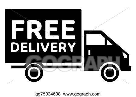 vector illustration free delivery truck free shipping eps rh gograph com Shipping Clerk Clip Art free shipping clipart