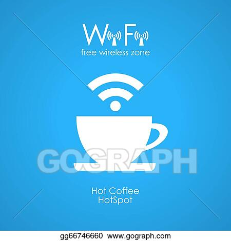 EPS Illustration - Free wifi cafe poster  Vector Clipart gg66746660