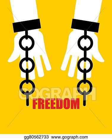 Broken Fetters Liberation From Slavery Chain Handcuffs
