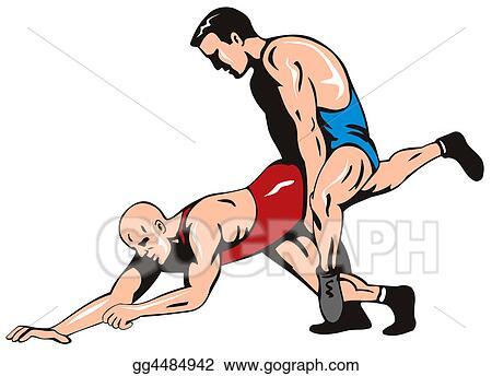 stock illustration freestyle wrestling clipart gg4484942 gograph rh gograph com Wrestling Symbol Wrestling Drawings