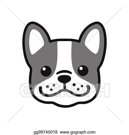 Vector Clipart French Bulldog Face Vector Illustration Gg99745018