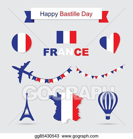 Map Of France Eiffel Tower.Vector Art French Flag And Map Icons Set Eiffel Tower Icon