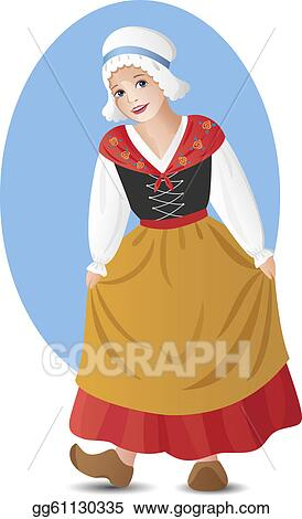 French Girl In National Costume