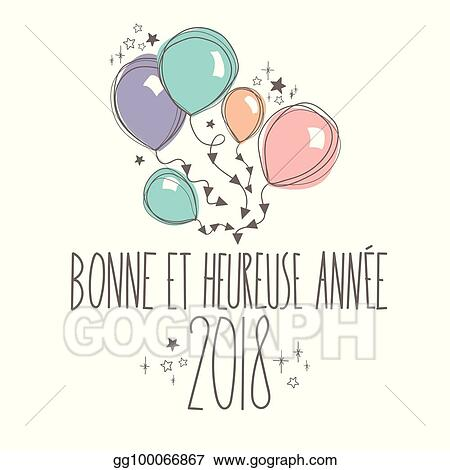 french happy new year card