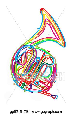 clip art french horn stock illustration gg62151791 gograph rh gograph com french horn clipart french horn clip art black and white