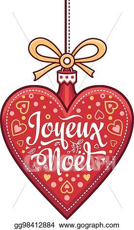 Joyeux Noel Clipart.Eps Vector French Merry Christmas Joyeux Noel Greeting