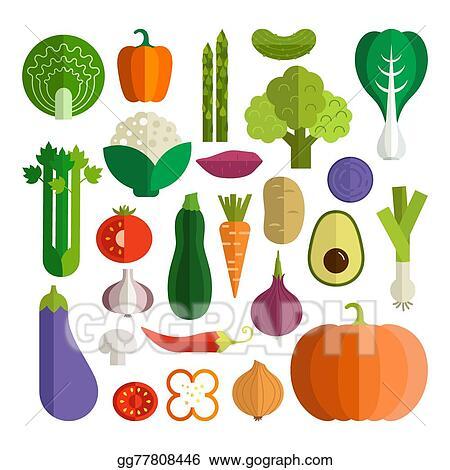Vector Art Fresh Vegetables Clipart Drawing Gg77808446 Gograph