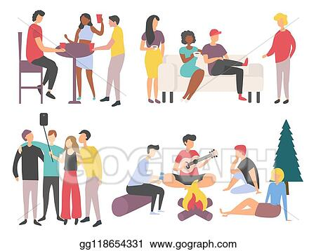 Family Picnic Park Stock Vector Images - Alamy