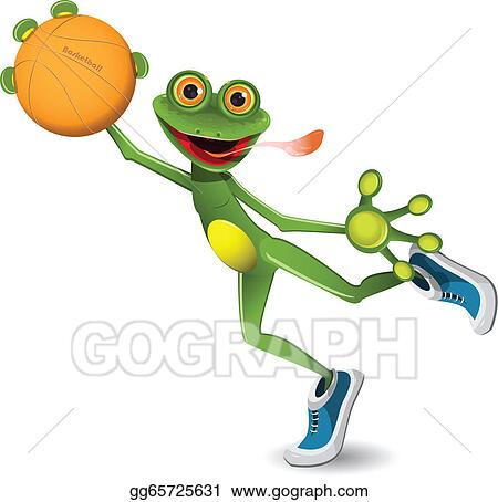 vector stock frog basketball clipart illustration gg65725631 rh gograph com Horned Frogs Volleyball Volleyball Net