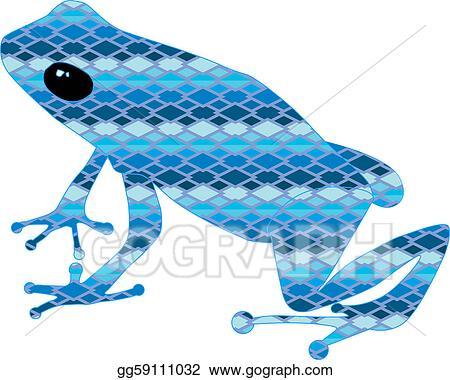 Clip Art Vector Frog With Blue Snake Skin Stock Eps Gg59111032