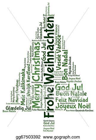 Weihnachten Clipart.Stock Illustration Frohe Weihnachten 2014 In Tag Cloud Clipart