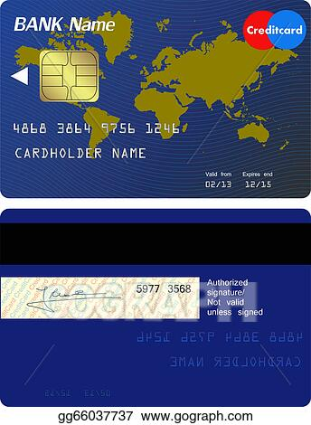 Vector Stock Front And Back Of Credit Card Stock Clip Art