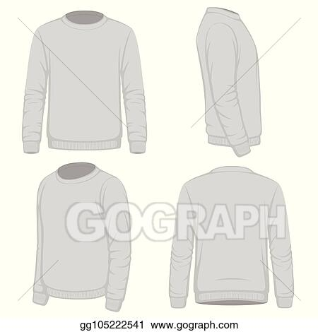classic styles f4938 febcf men white blank hoodie in front and back view  vector image on vectorstock - jbassey.com 57cc6c697