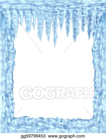Stock Illustration - Frozen ice and icicles frame. Stock Art ...