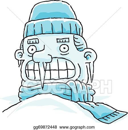 vector art frozen man clipart drawing gg69872448 gograph