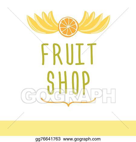 eps vector fruit shop editable template logo or signage stock