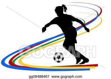 Stock Illustration Fussballerin Clipart Zeichnung