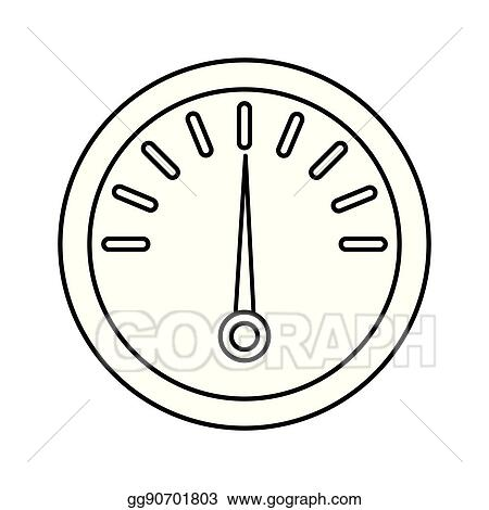 EPS Vector - Fuel gauge isolated icon  Stock Clipart