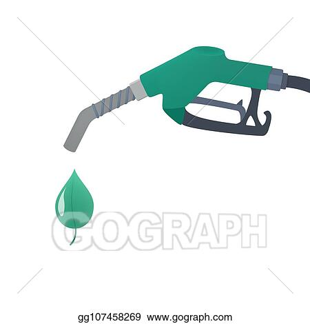 Vector Clipart Fuel Pump With Drop Of Ecology Friendly Oil