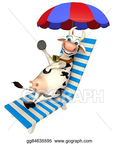 Stock illustration fun cow cartoon character with beach chair stock illustration 3d rendered illustration of cow cartoon character with beach chair clip art gg84635595 voltagebd Gallery