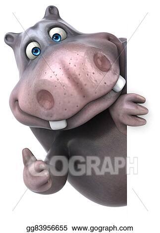 Drawing Fun Hippo Clipart Drawing Gg83956655 Gograph