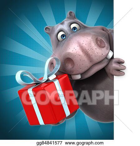 Drawing Fun Hippo Clipart Drawing Gg84841577 Gograph