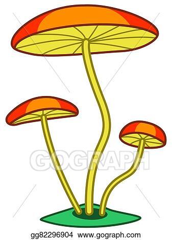 vector illustration fungi stock clip art gg82296904 gograph rh gograph com  fungi bacteria clipart