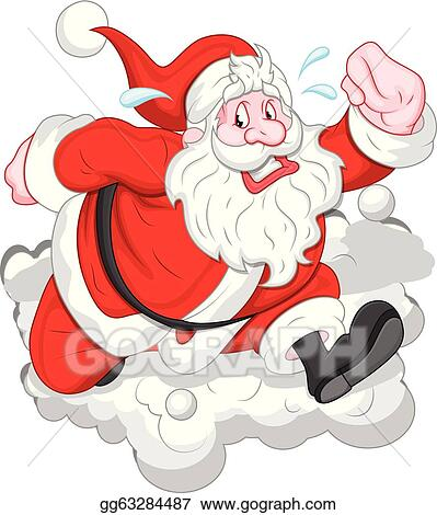 vector art funny cartoon santa running vector eps clipart gg63284487 gograph https www gograph com clipart license summary gg63284487