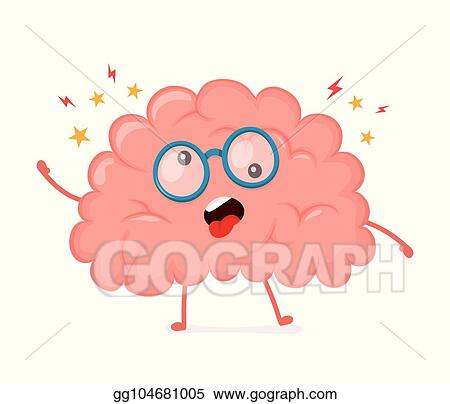 vector illustration funny cute crazy mad sick brain eps clipart gg104681005 gograph https www gograph com clipart license summary gg104681005