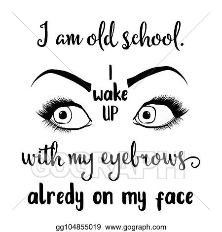Vector Art Funny Hand Drawn Quote About Makeup Clipart